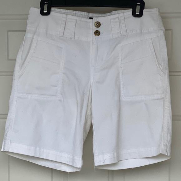 Sanctuary Pants - Sanctuary White Bermuda Shorts